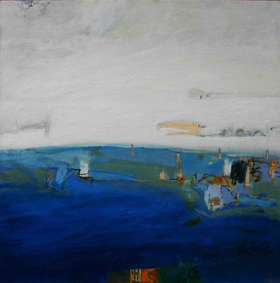 Blue Haven (oil on board, 51 x 51 cm) £1700 plus delivery by Russell Frampton
