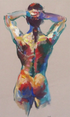 Elena (gouache & watercolour framed 87 x 61cm 34 x 24 inches) £770 plus delivery