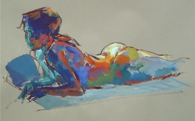 Hannah (gouache & watercolour framed 91 x 64cm 36 x 24 inches) £770 plus delivery