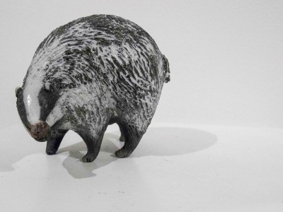 Badger Turning  (original ceramic) £68 by Alison Fisher