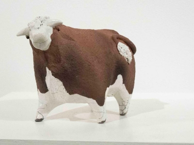 Hereford Bull (original ceramic) £68 by Alison Fisher