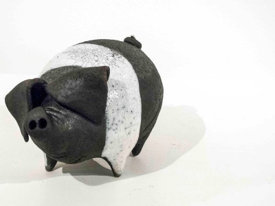 Saddleback Pig (original ceramic) Currently out of stock by Alison Fisher
