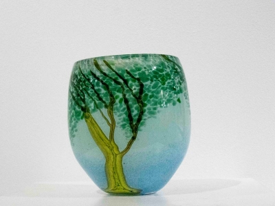 Willow Vase (Hand Blown Glass) £115 by Siddy Langley