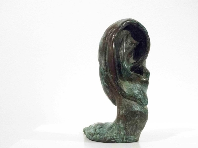 Head & Hand (Bronze Resin Verdigris) £90 by Sarah Cotterill