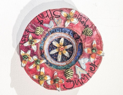 Bumble Bee Plate (papier machie) £32 plus delivery by Hilary Mee