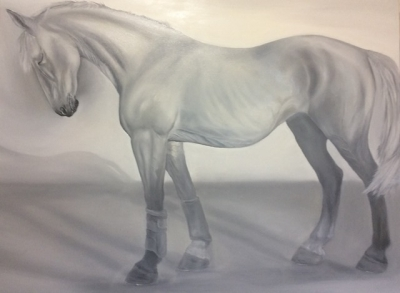 Virtuous (A star pupil) (oil on canvas 30 x 40 inch, 75 x 102cm unframed) £700 plus delivery