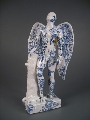 Angel (original ceramic blue and white) Sold by Pierre Williams