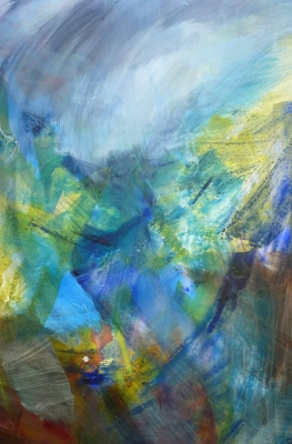 Summer Gully (mixed media on canvas unframed 150 x 100cm 59 x 39 inches) £3500 plus delivery by Jo Lucas