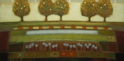 When the chestnuts bloom (oil on canvas framed 62 x 123cm) £1700 Plus delivery by Rob Van Hoek