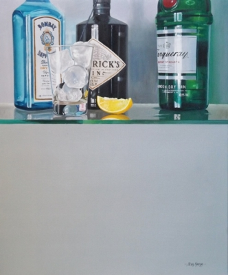 Tripple Distilled (oil on linen canvas framed 28 x 24 inches 70 x 60cm) SOLD by Peter Kotka