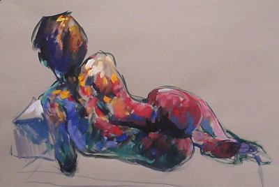 Elena (gouache & watercolour framed 82 x 68cm 32 x 27 inches) £720 plus delivery by Ian Cook RI RSW