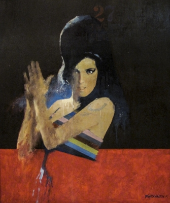 Amy Winehouse ( 36 x 30 inches, oil on board) £2500 Plus delivery by Brian Denington