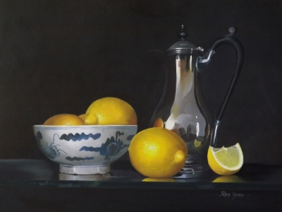 Silver, Chinese Bowl and Lemons!
