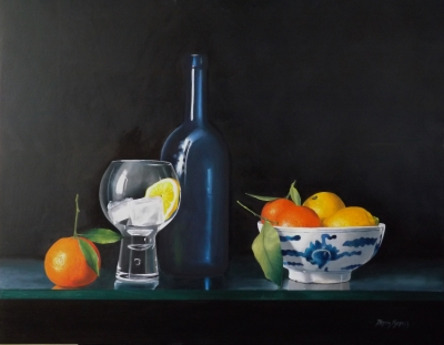 Oranges and Lemons! Oil on panel £2500 40x50cm  by Peter Kotka