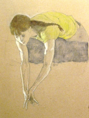 Girl on ledge