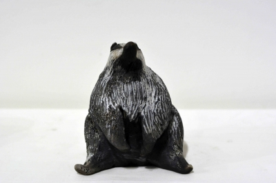 Badger Sitting by Alison Fisher