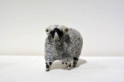 White Sheep with Horns by Alison Fisher