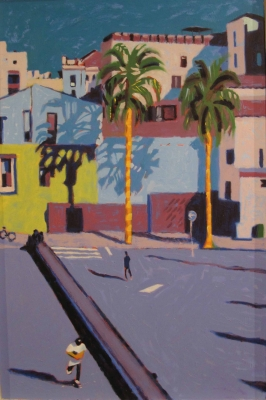 MACBA BARCA (oil on board ) £895 plus delivery by Sara Hayward RCA