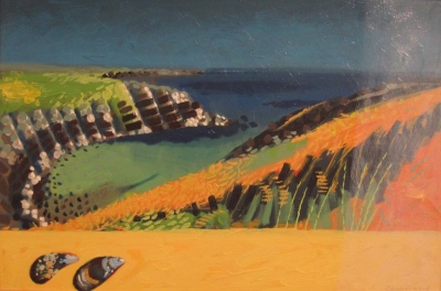 Pembrokeshire (oil on board framed ) £695 plus delivery by Sara Hayward RCA
