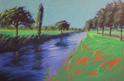 River Avon (acrylic on board 140 x 98cm framed) £3000 plus delivery by Paul Powis