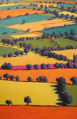 Towards Upton(acrylic on board framed 140 x 98cm) £3000 plus delivery by Paul Powis