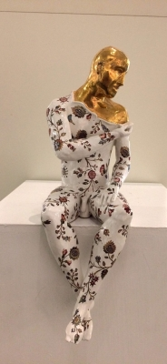 Sitting Male Nude, precious series (original ceramic approximatly 25cm from shelf) £485 plus delivery by Pierre Williams