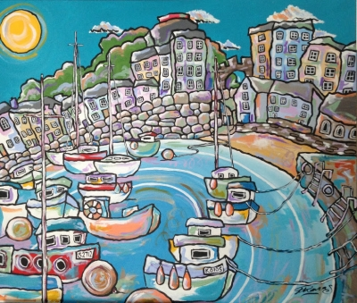 Tenby Summer (74 x 63 cm) £595 plus delivery by Rhiannon Thomas