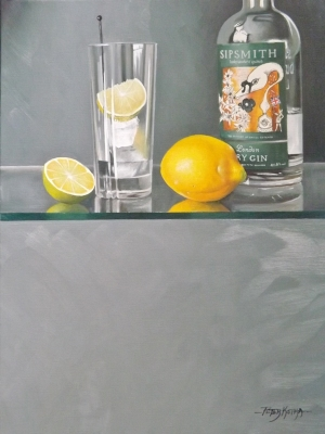 Time for a Gin! (oil on canvas 50 x 40cm framed) Sold by Peter Kotka