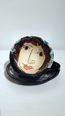 Cup & Saucer by Karen Atherley