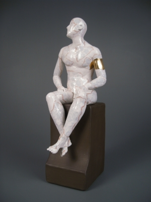 Seated Male Nude on Plynth by Pierre Williams