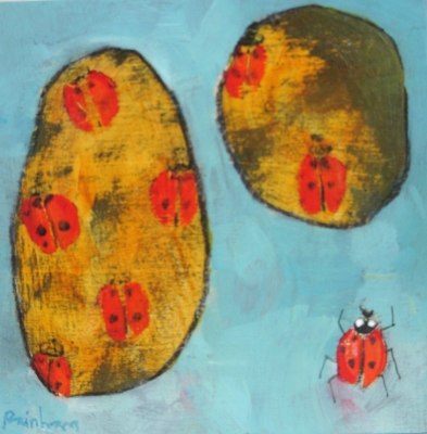 Two Stones & Ladybird by Christopher Rainham