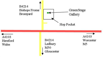 Map to Greenstage Gallery