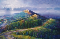 South Towards the Beacon (oil on canvas 95 x 65cm framed) £1045 plus delivery