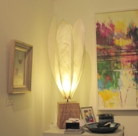 Medium Crocus Lamp (oak base, crocus kozo shade) £240 plus delivery