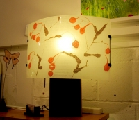 Hawthorn Lamp (polycarbonate, chinese paper and wood base) £185 plus delivery