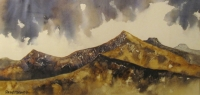 The Beacons Panarama  (textured watercolour on watercolour paper framed 92 x 58) £630 plus delivery