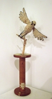 Parkwater - bird on a spool  (mixed media sculpture 26 x 65cm) £180 plus delivery