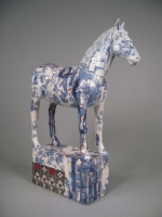 Horse blue (original ceramic height 62cm length 45cm) £1250 plus delivery
