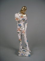 Standing Male Nude; precious series (original coloured ceramic height 50cm) £575 plus delivery