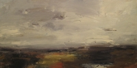 High Ground and Heather with frame  (acrylic on canvas framed 145 x 75cm) Sold