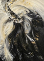 Black and White (30cmx40cm, oil on canvas) £300 Plus delivery by Olena Topliss