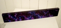 Purple Wall Block, (silk & acrylic) £190 Plus delivery