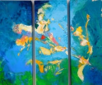 Shimmer  (acrylic on 3 panels unframed 80 x 95cm)  £1200 plus delivery