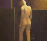 Brown and Purple Nude (oil on board framed ) £1200 plus delivery