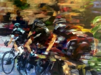 Blink, Tour de France (acrylic on canvas 80 x 60cm unframed) £790 plus delivery Sold