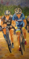 Elbows; Tour de France (oil on canvas 50 x 100cm framed) £890 plus delivery