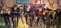 Banking; Tour de Yorkshire (oil on canvas 100 x 50cm framed) £890 plus delivery