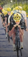 Sky Fall; Tour de France (oil on canvas 50 x 100cm framed) £890 plus delivery
