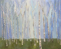 Birches and Blue Skies