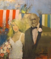 Wedding (oil on board framed)